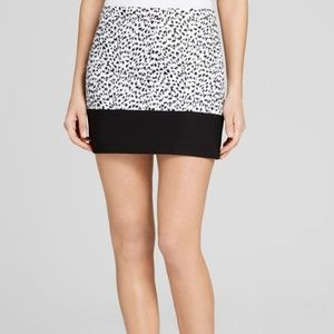 Michael Kors Animal Print Black Mini Skirt